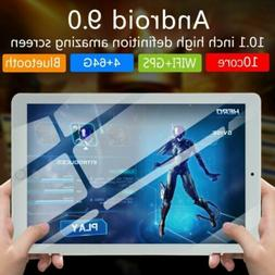 "10.1"" Bluetooth WIFI/4G-LTE HD IPS PC Tablet Android 9.0 4+"