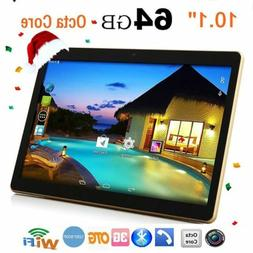 10.1''Inch Tablet PC Android6.0 Octa-Core 64GB HD WIFI 4G 2*