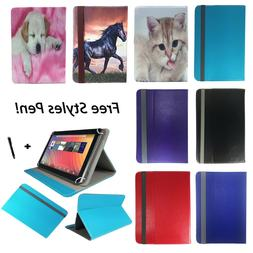 "10.1"" Premium Leather Stand Tablet Flip Cover Case For Yunta"