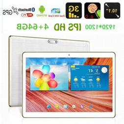 10.1'' Tablet PC 4G+64GB Android 6.0 WIFI Quad Core Dual 3G
