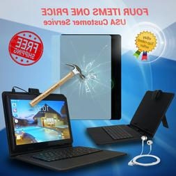 10 inch Google Android 7 Tablet PC | Keyboard Case | GSM Unl