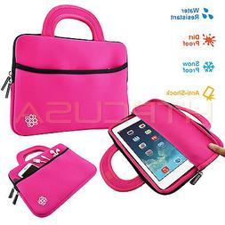 "10"" Inch Pink Tablet Neoprene Handle Case Sleeve Bag for New"
