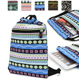 10 inch Tablet Protective Drawstring Tribal Print Backpack C