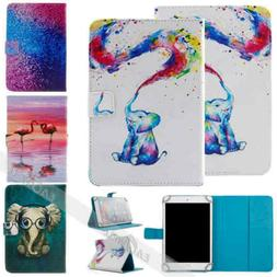 """For 10"""" inch Tablet Universal Animal Printed Folio Stand Fli"""