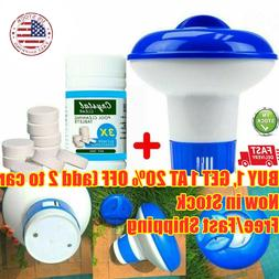 100X Pool Cleaning Floating Chlorine Tablets+Hot Tub Chemica