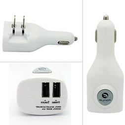 2-IN-1 CAR HOME CHARGER POWER ADAPTER DUAL USB PORT for SMAR
