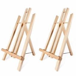 2-Pack Mini Tabletop Wooden Art Portable Painting Easel for