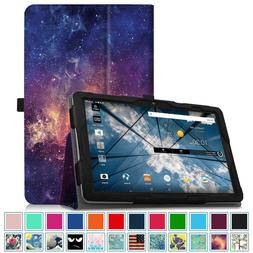For 2017 NEW AT&T Primetime 10-inch Tablet Leather Folio Cas