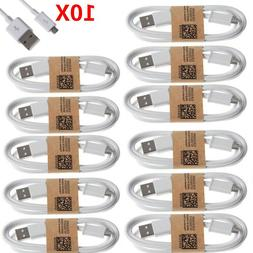10-Pack Micro USB Charger Fast Charging Cable Cord For Andro