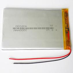 3.7V 3500mAh LiPo Polymer Rechargeable Battery 406090 For Po