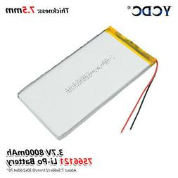 3.7V 8000mAh Lipo Battery 7566121 With PCB For Tablet PC DVD