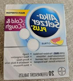3-Boxes Alka-Seltzer Plus Cold & Cough, Citrus Effervescent