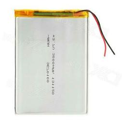 """Replacement 3.7V 3000mAh Battery for 7~10"""" Tablet PC Silver"""