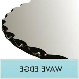 """36"""" Round Clear Tempered Glass Table Top 1/2"""" thick - Wave e"""