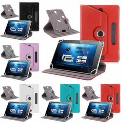 """360° Classic Leather Case Cover 7"""" 8"""" 9"""" 10"""" For Android iP"""