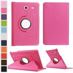 360 Rotating Swivel Leather Case Cover For Samsung Galaxy Ta
