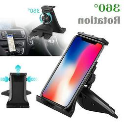 360°CD Player Slot Rotation Car Mount Holder for iPad Pro A