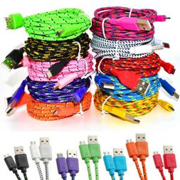 3M/10FT Hemp Rope Micro USB Charger Sync Data Cable Cord for