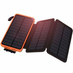 2000000mAh Solar Panel External Battery Charger Power Bank F