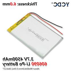 606090 3.7v 4500mah li-ion battery rechargeable for tablet d