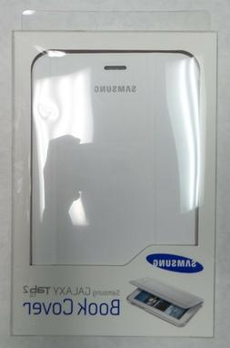 Samsung 7.0 in. Book Cover Case for Tab 2 White Tablet Acces