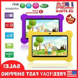 """7"""" Quad Core Kid Tablet PC Android 4.4 Dual Camera HD WiFi 8"""