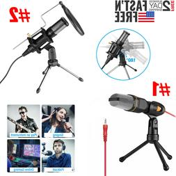 USB/ 3.5mm Microphone Wired Condenser Microphone Studio Mic