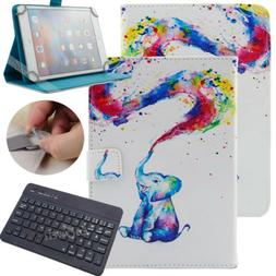 """For 9.7-10.1"""" inch Tablet Rainbow Elephant Universal Leather"""