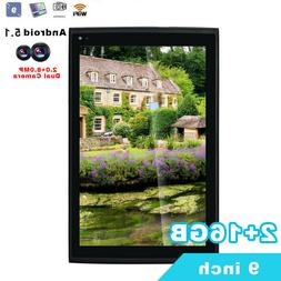 "9"" Google Android Tablet PC 2+16GB 1920x1200 IPS 2.0+8.0MP W"