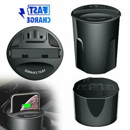 Fast Qi Wireless Charger Car Charger Cup Holder For Samsung