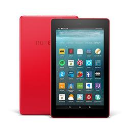 "Fire 7 Tablet with Alexa, 7"" Display, 16 GB, Punch Red - wit"