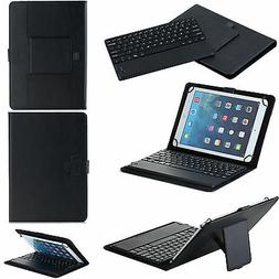 For 7/8/10 inch  Leather Case Bluetooth Wireless Keyboard to