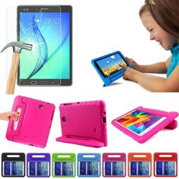 Kids Shockproof EVA Stand Case + Tempered Glass Film For iPa