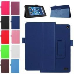 PU Leather Stand Flip Case Cover For Amazon Kindle All-New F