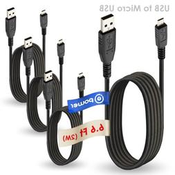 T POWER 4 x pcs 6.6 ft Compatible with Micro-USB to USB Cabl