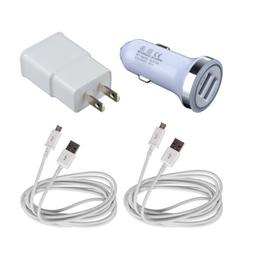 Wall Charger+Car Adapter+2x Cable For Samsung Galaxy Tab S2
