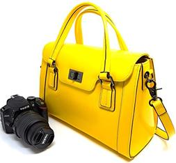 Women Camera Bag and Ladies Top-Handle Handbag with Removabl