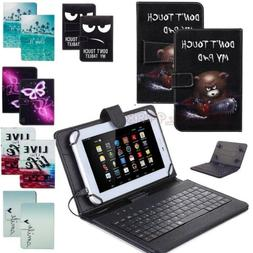 For Acer Iconia 7 8 10 inch Tablet PU Leather USB with Keybo