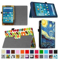 Amazon Fire HD 8 Tablet  Folio Stand Leather Case Cover
