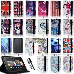 """For Amazon Kindle Fire 7"""" 8"""" 8.9"""" 10"""" Tablet - FOLIO LEATHER"""