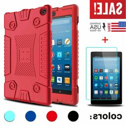 For Amazon Kindle Fire 7 /HD 8 2017 Soft Tablet Case Cover W