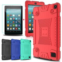 For Amazon Kindle Fire HD 8/Fire 7 Soft Tablet Case Cover+Gl