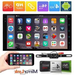 Android 6.0 4-Core Radio 2-DIN Car Stereo No-DVD Tablet BT G