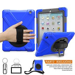 Apple iPad 2 3 4 Case, BRAECNstock Heavy Duty Kickstand Shoc