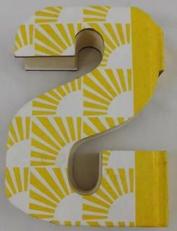 Ashland Summer Fiesta Tabletop Decor Letter S Book Yellow Ne