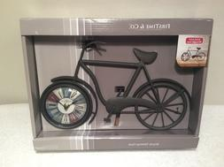 """Bicycle Tabletop Clock Firstime & Co 14""""x8"""" AA Battery W"""
