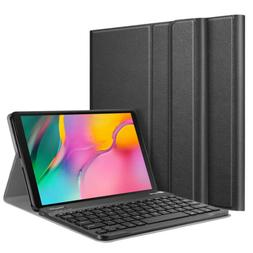 With Keyboard Slim PU Leather Stand Cover Case for Samsung G