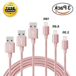 Braided Lightning Charging Cable Connector for iPhone iPad,U