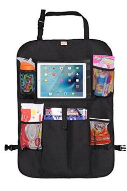 Zohzo Car Back Seat Organizer with Tablet Holder - Touch Scr