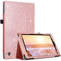 DUEDUE Case for All-New Amazon Fire HD 10 Tablet  Slim Glitt
